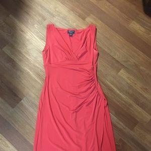 Stretchy Coral Sheath Dress